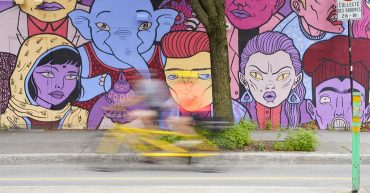 Photo vélo floue