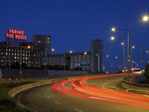 Photo urbaine de nuit